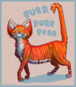 El ronroneo del gato puede ser de dolor o de placer | Foto: tigon.deviantart.com