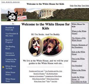 Socks fue el protagonista de la web para niños de la Casa Blanca